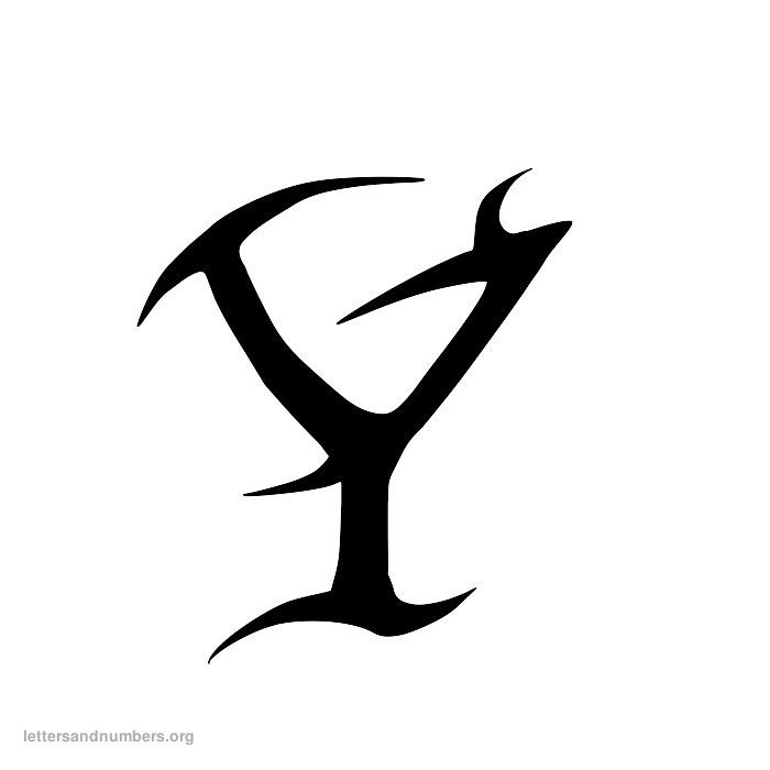 Tattoo Letter Y
