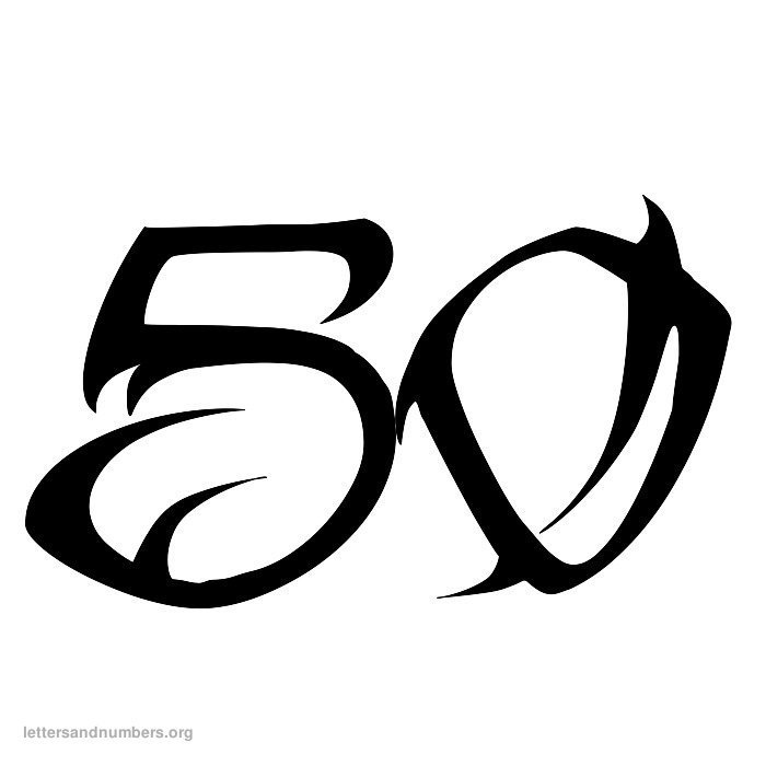 1-50 Tattoo numbers
