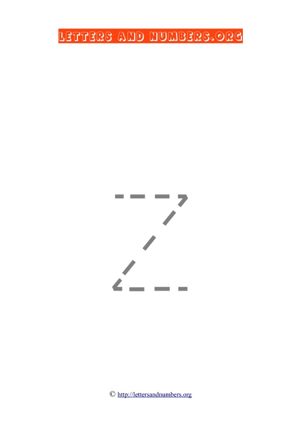 PDF Lowercase Letter Tracing Z