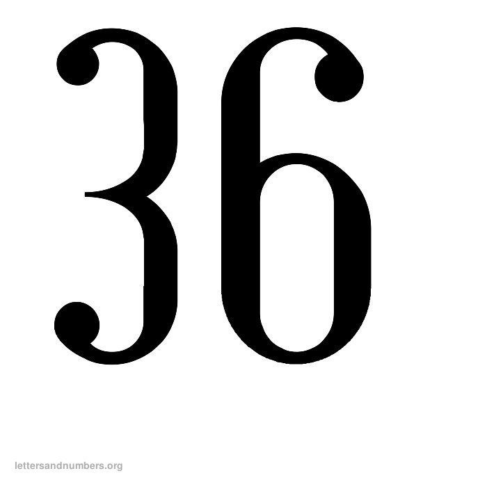 Printable Antique Numbers 1 To 50