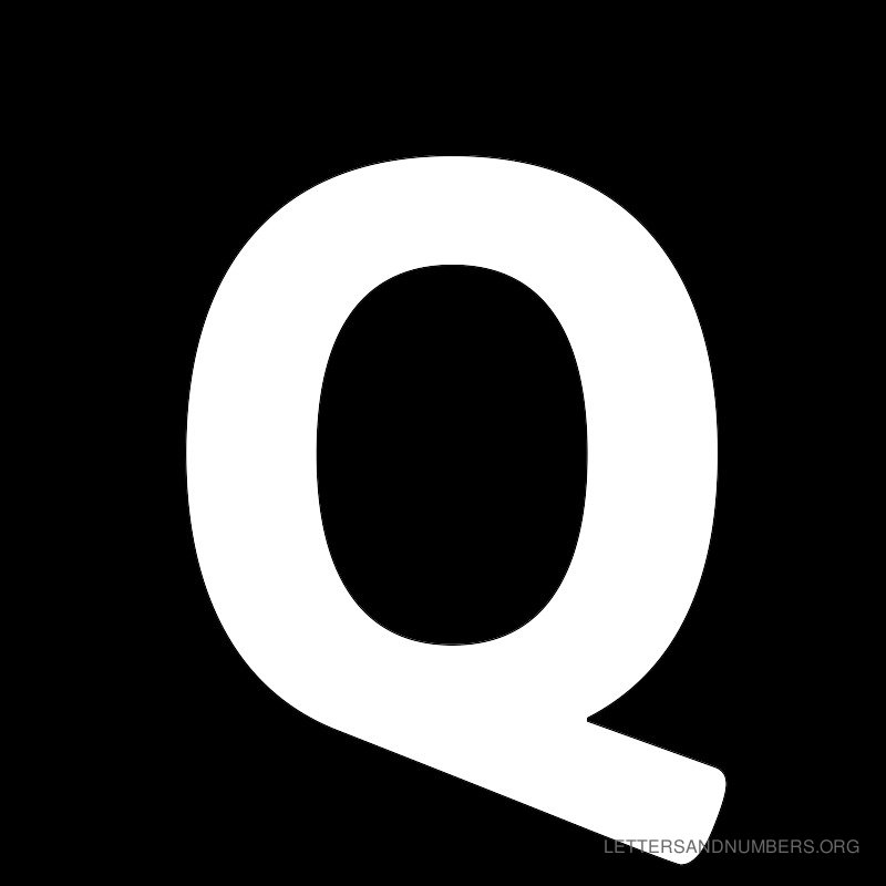 Black Background Letter Q