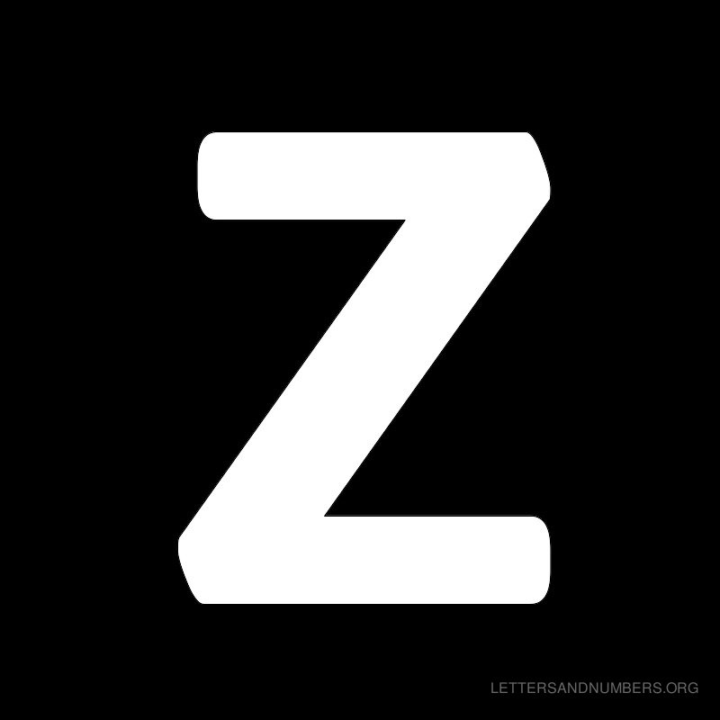 Black Background Letter Z