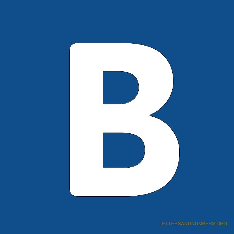 Blue Background Letter B