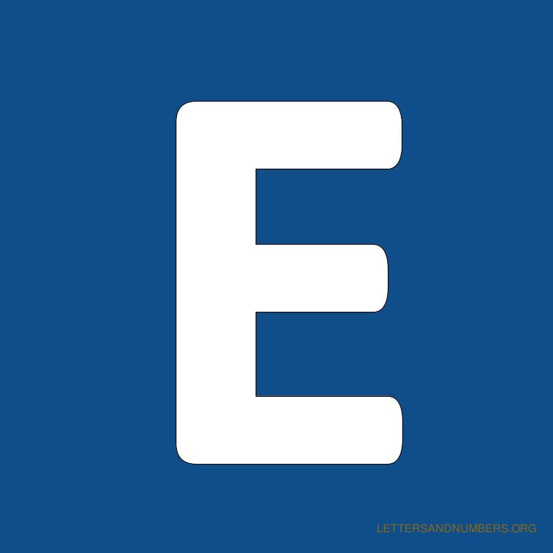 Blue Background Letter E