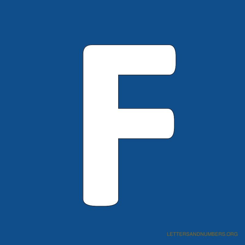 Blue Background Letter F