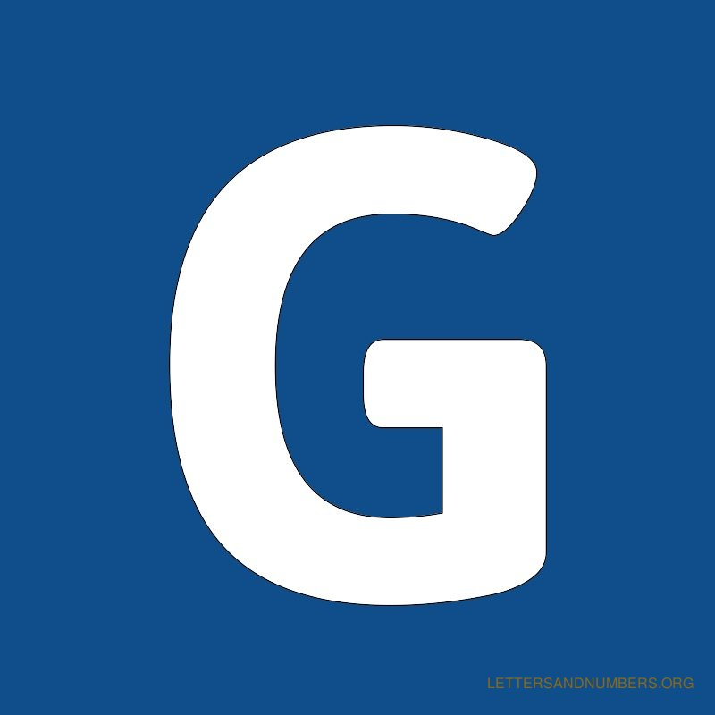 Blue Background Letter G