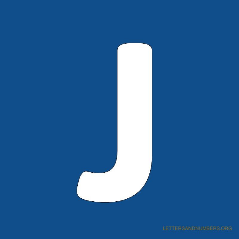 Blue Background Letter J