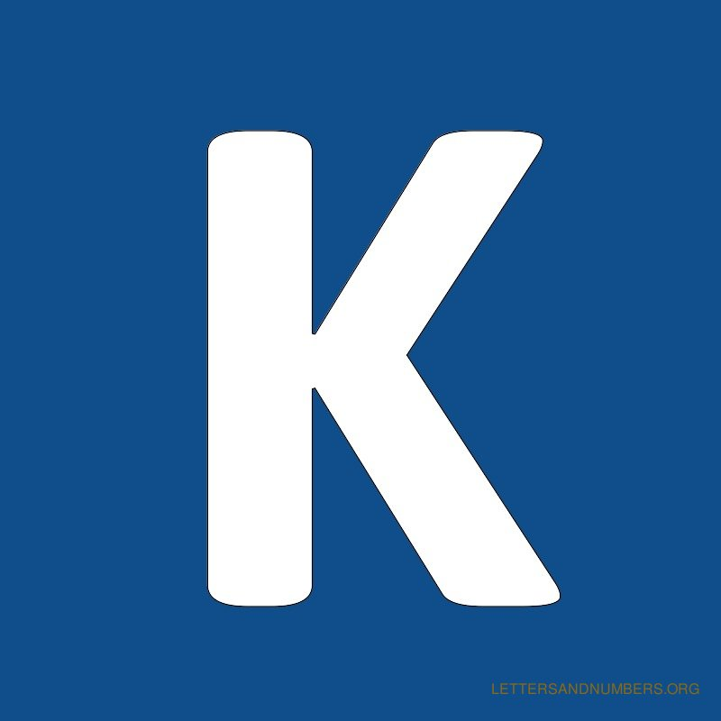 Blue Background Letter K