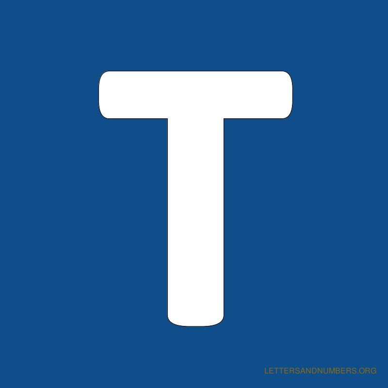 Blue Background Letter T
