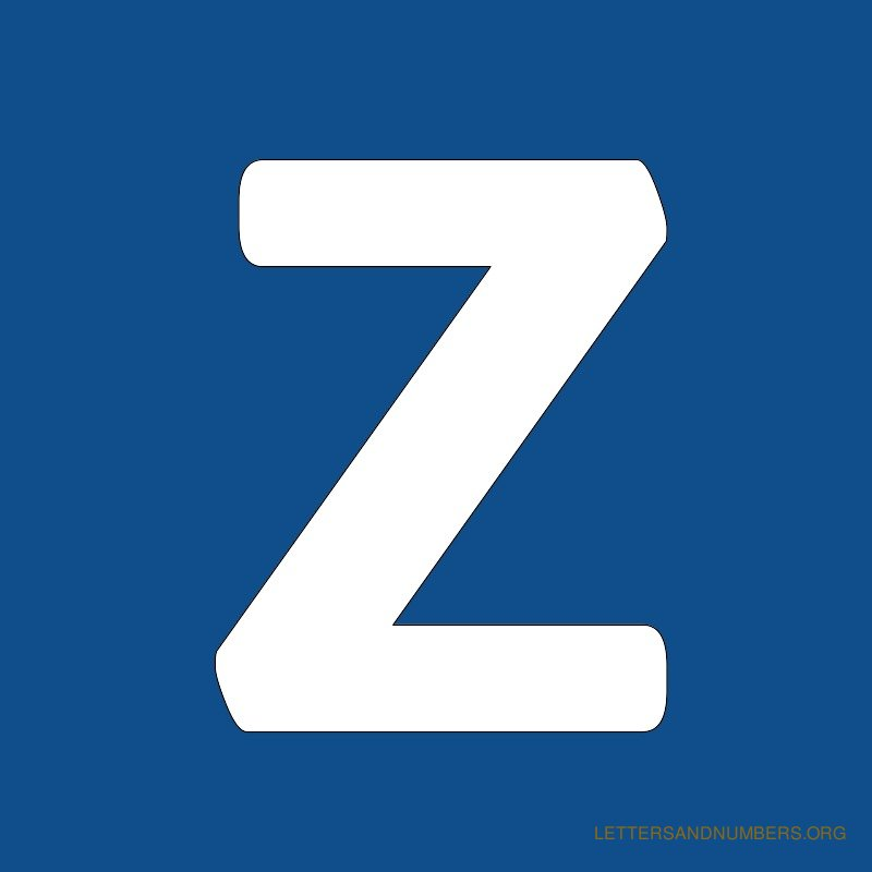Blue Background Letter Z