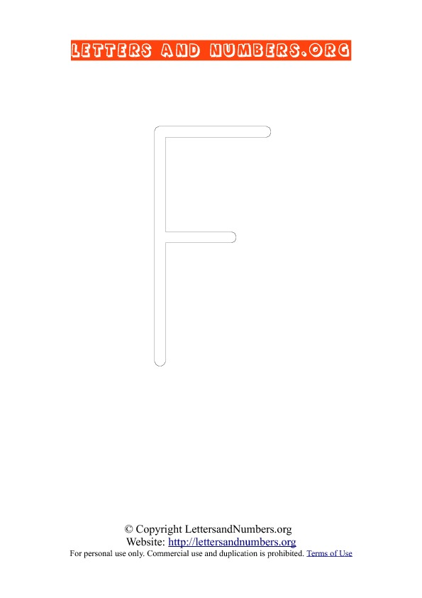 Letter F Uppercase Coloring 1