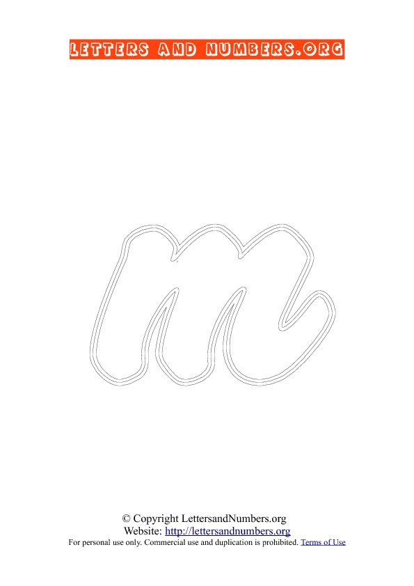 Letter M Lowercase Coloring 2
