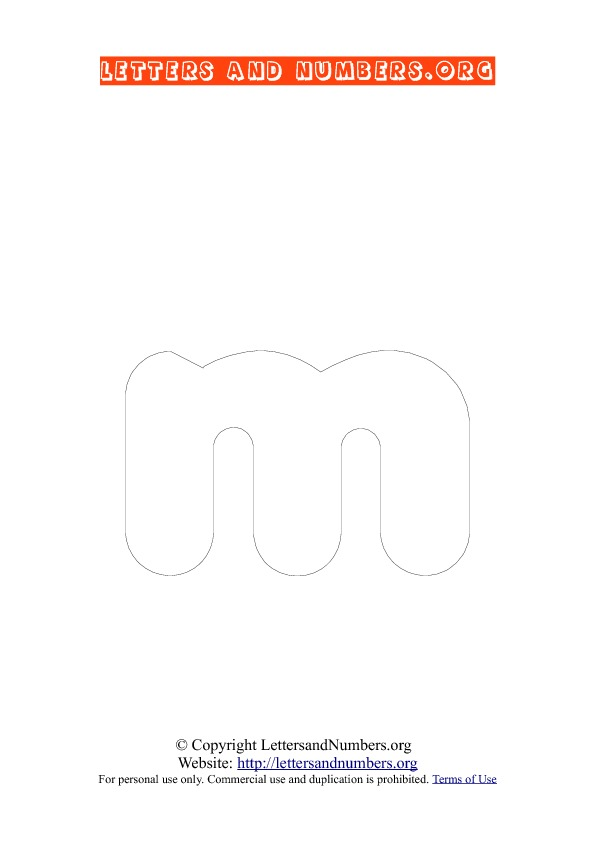 Letter M Lowercase Coloring 3