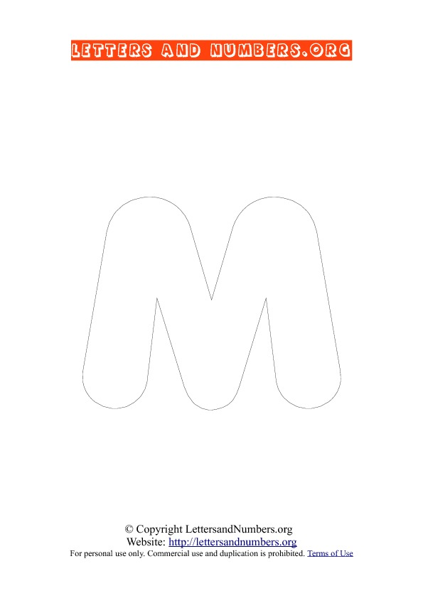 Letter M Uppercase Coloring 3
