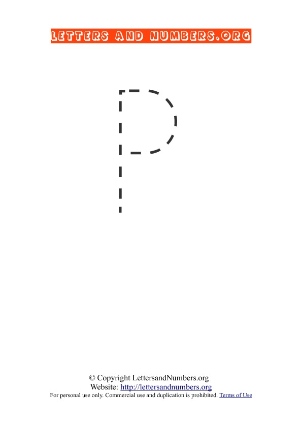 Letter P Uppercase Tracing
