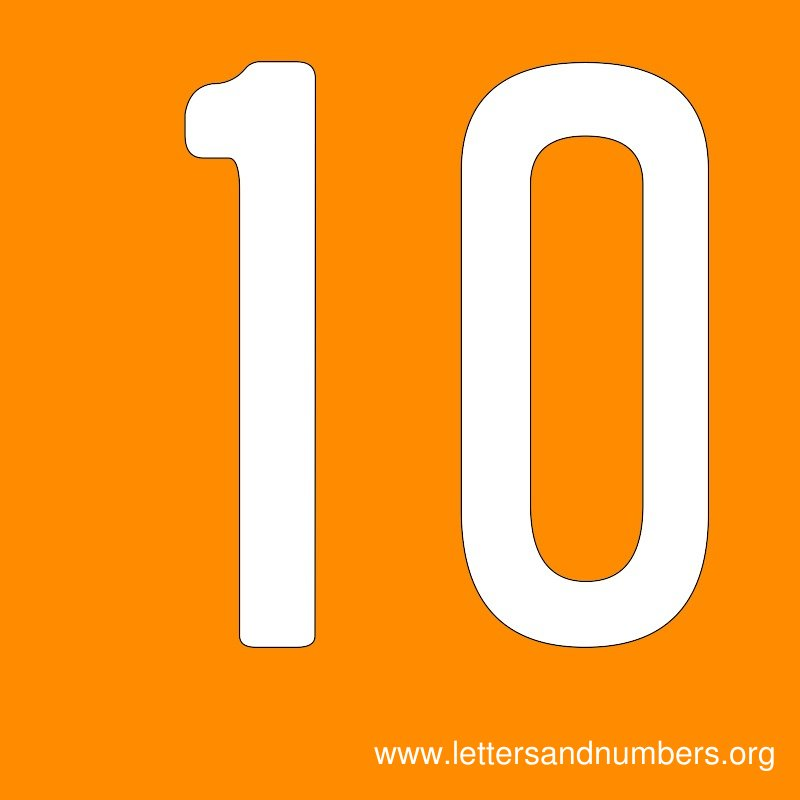 Number Signs 10